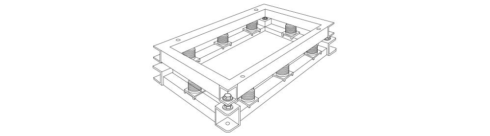 GES型の小型発電機用OS式防振装置