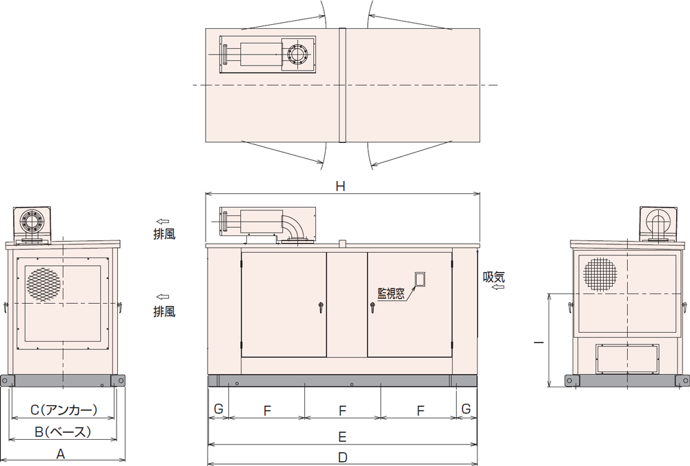 非常用発電機AP300C屋内標準騒音タイプ