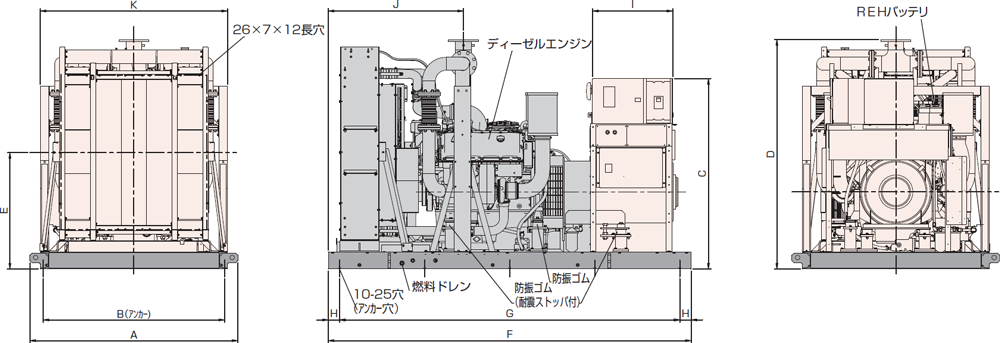 非常用発電機AP500C屋内オープン型