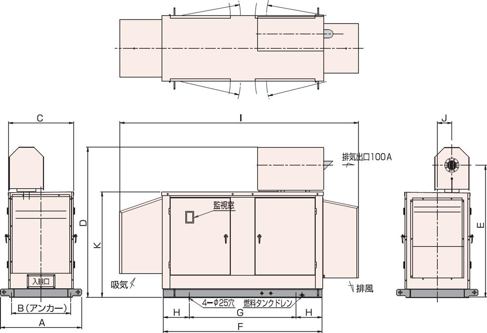 AP95C・115C 屋外超低騒音タイプ(約75dB(A)at1mレベル)