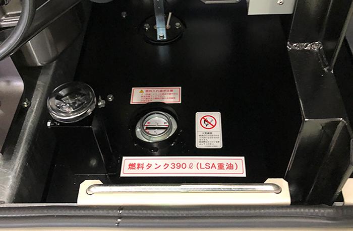 ヤンマー製の非常用発電機LSA重油390ℓまで