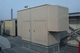神奈川県企業ビル設置の発電機