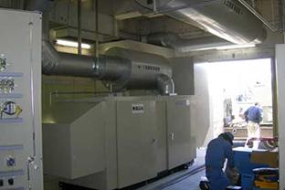 埼玉県ポンプ場屋内設置発電機