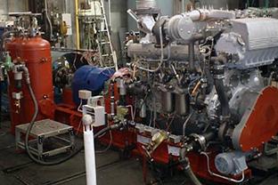 福井県排水機場屋内設置発電機