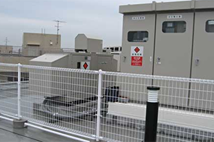 大阪府特別養護老人ホーム屋内設置発電機
