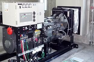 三重県某所インターチェンジ屋外設置発電機