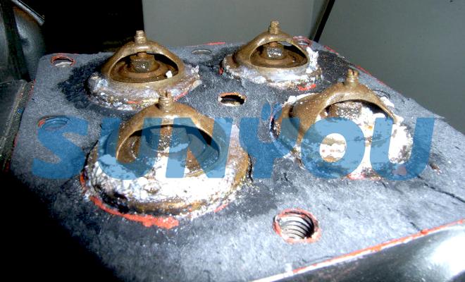 非常用発電機の冷却水温調弁腐食