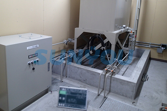 非常用発電機のスラッジ除去装置の設置